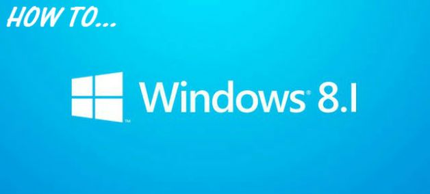 how to windows 8 1